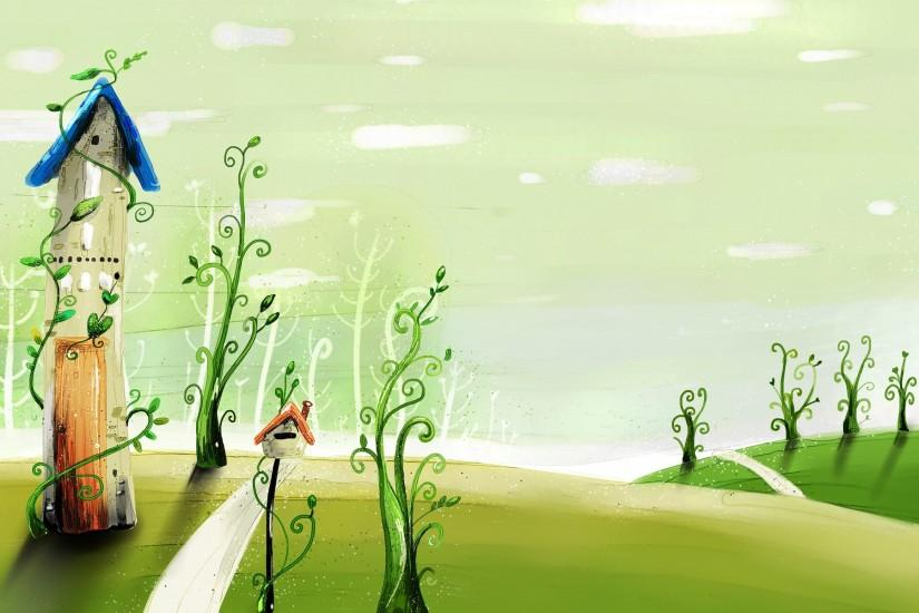 free cartoon background 1920x1200 for windows