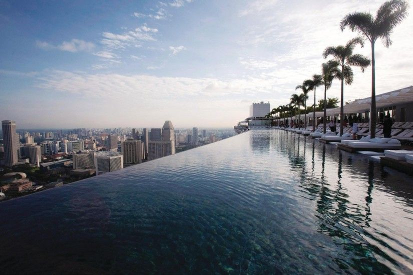 hotel marina bay sands hotel singapore pool roof views