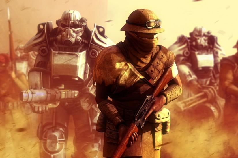 video Games, Fallout: New Vegas, New California Republic, Power Armor  Wallpaper HD