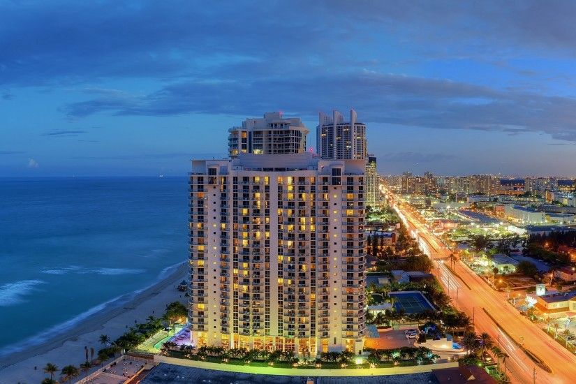 Preview wallpaper sunny isles beach, miami, florida, panorama, atlantic  coast, city