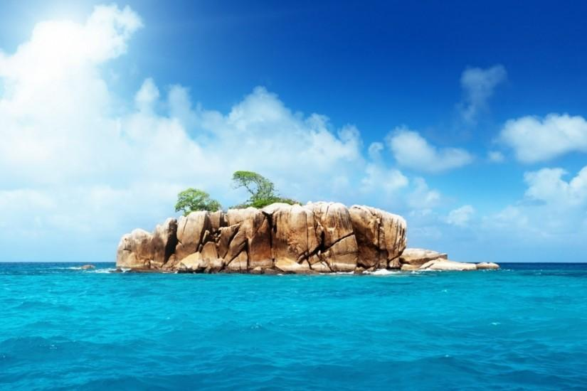 Preview wallpaper island, rocks, sea 1920x1080