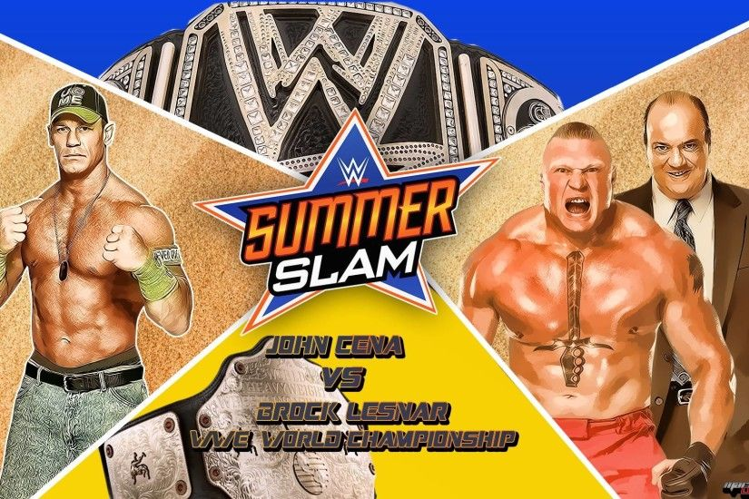 WWE Summerslam 2015 John Cena Vs Brock Lesnar Wallpapers .