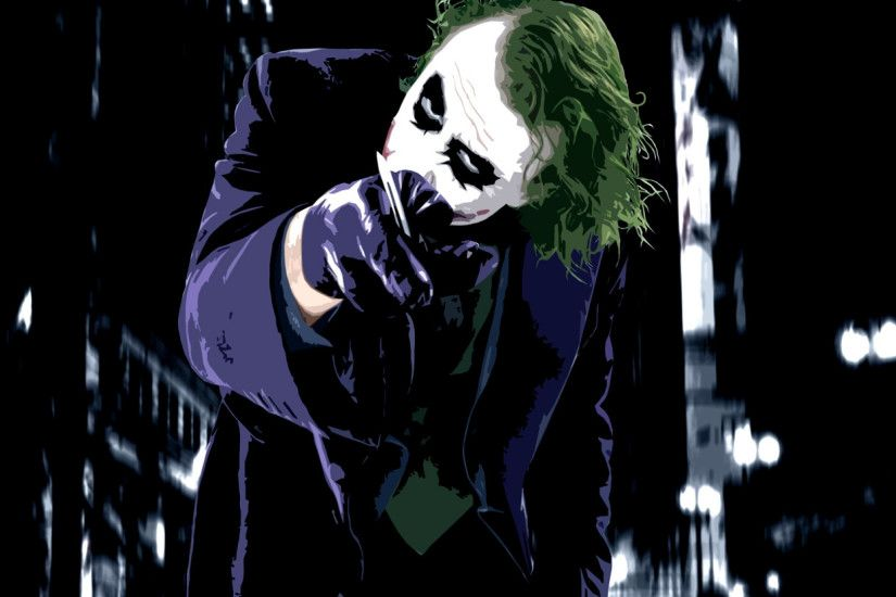 Preview wallpaper joker, card, vector 2560x1080