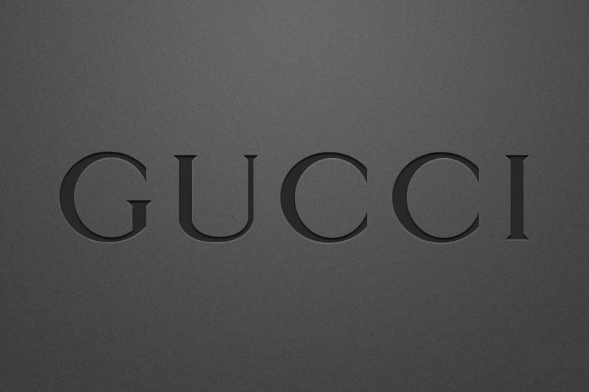 Black Gucci Logo Wallpaper