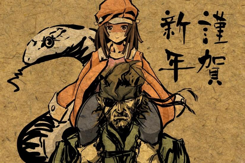 Metal Gear Solid, Monogatari Series, Snake, Sengoku Nadeko, Big Boss, Anime  Wallpaper HD