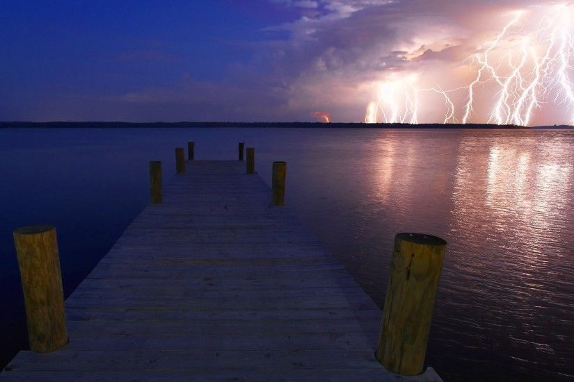 Lightning Storm Nature Sky Rain Clouds Thunderstorm Background Scenes -  1920x1080