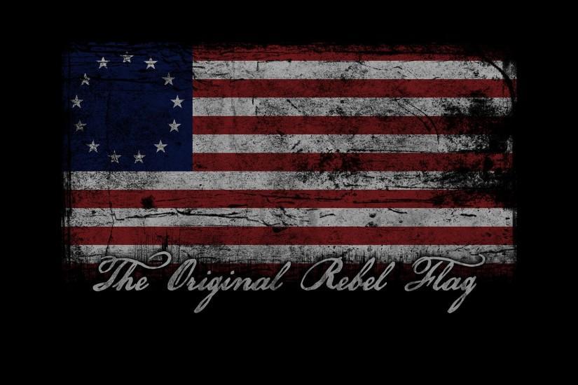 The Original Rebel Flag Wallpaper .