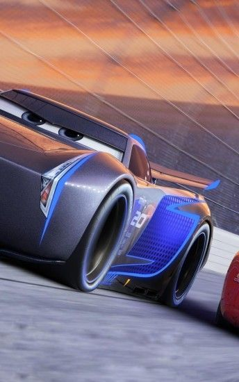 Cars 3, Jackson Storm, Lightning Mcqueen, Animation