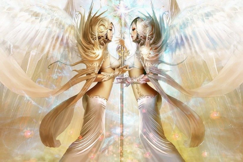 Fantasy - Angel Cute Digital Painting Wallpaper