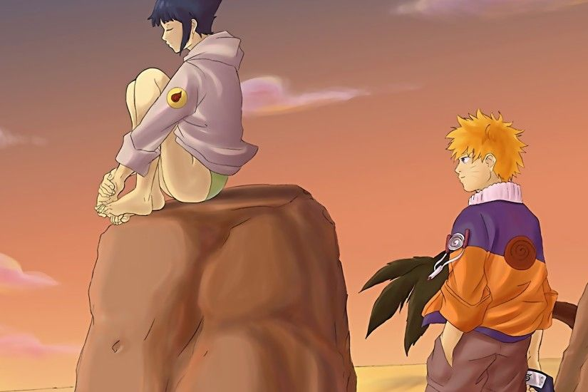 1920x1080 Wallpaper naruto, hinata, girl, boy, hurts