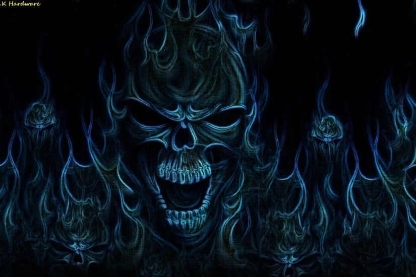 Dark - Skull Fantasy Horror Wallpaper
