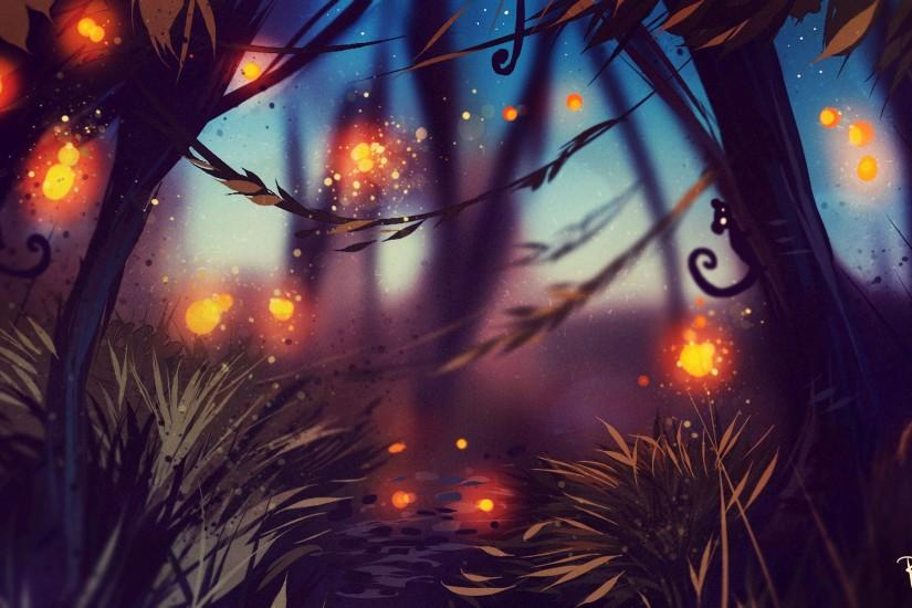 ... Smartphone · Fantasy Forest Wallpaper