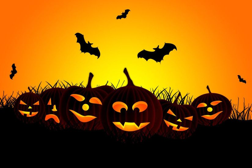 halloween jack o lanterns bats vector art holiday | HD wallpaper ...  Halloween Jack O Lanterns Bats Vector Art Holiday HD Wallpaper