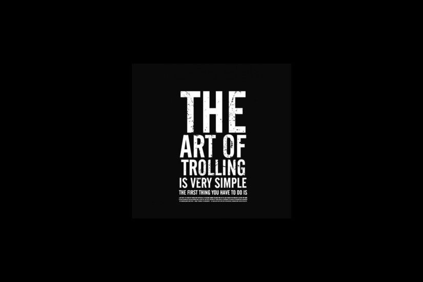 Artwork Black Background Funny Text Trolling Typography
