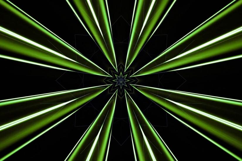 Club Visuals 576 - Kaleidoscopic Green Lights Free Motion Background HD