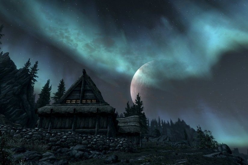 ... Elder Scrolls V: Skyrim - Wallpaper - 20 by X2X0-Art