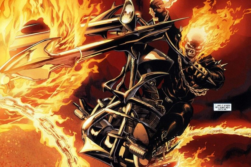 Pix For > Ghost Rider Comic Wallpaper