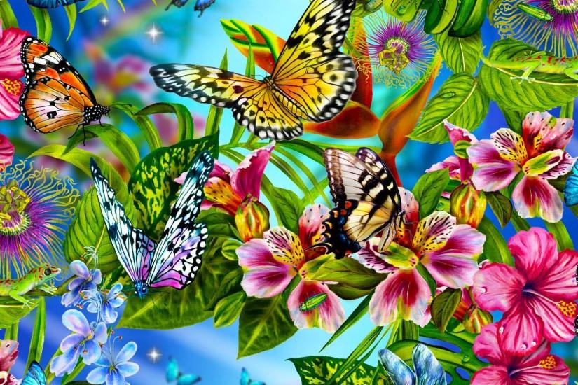 download butterfly background 1920x1080
