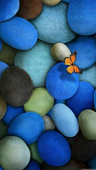 butterfly pebbles mobile background free 1080x1920