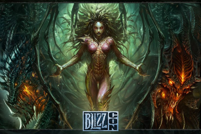 Starcraft, zerg, Sarah Kerrigan, monster