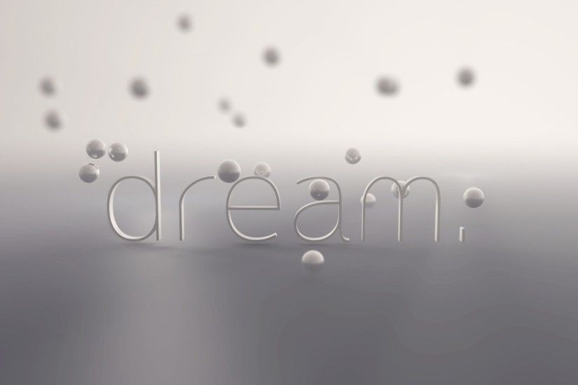 Preview wallpaper letters, dream, balls, light 3840x2160