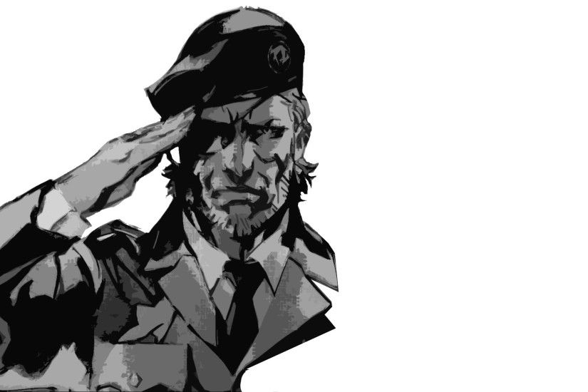 General 1920x1200 Metal Gear minimalism soldier monochrome Big Boss video  games simple background Metal Gear Solid