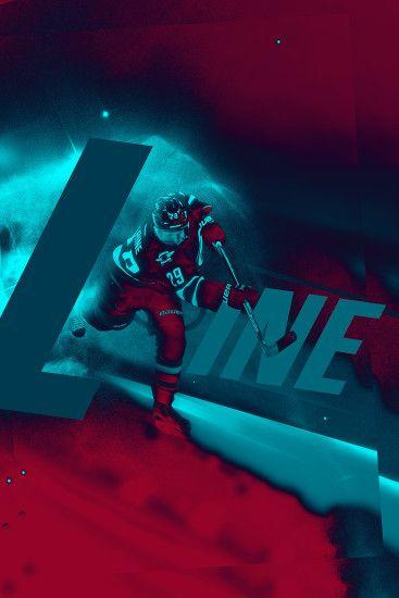 patrik laine laine winnipeg jets nhl hockey poster sports design sports edit blue red teal space