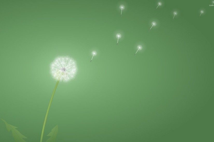 Light dandelion wallpaper