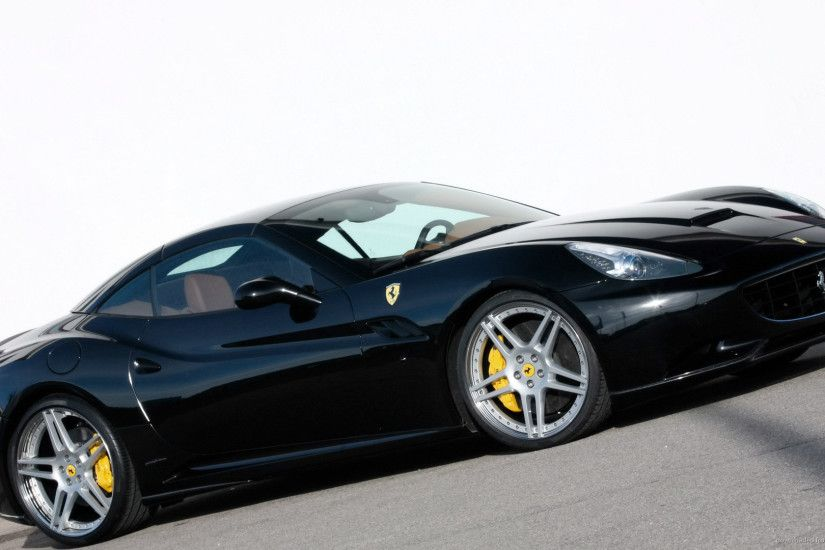 Black Ferrari Wallpaper 2 Desktop Background