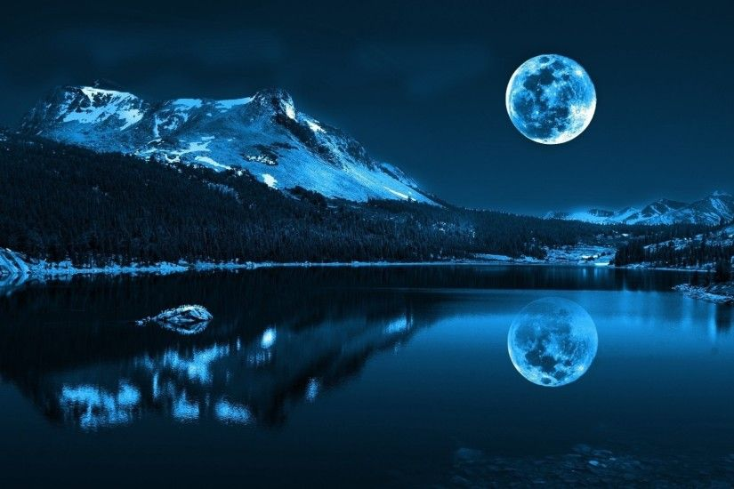 Image for 3D Wallpaper Of Lake And Moon Wallpaper Backgrounds HD Wallpapers