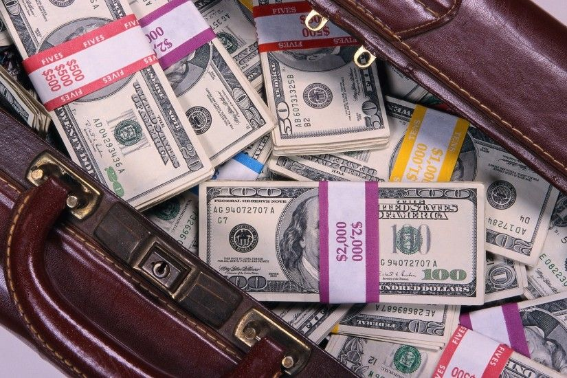 Loaded Bag of Money Wallpaper