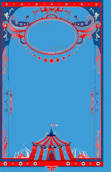 Circus theme background template