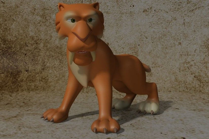 Movie - Ice Age 3D Tiger Cartoon Wallpaper