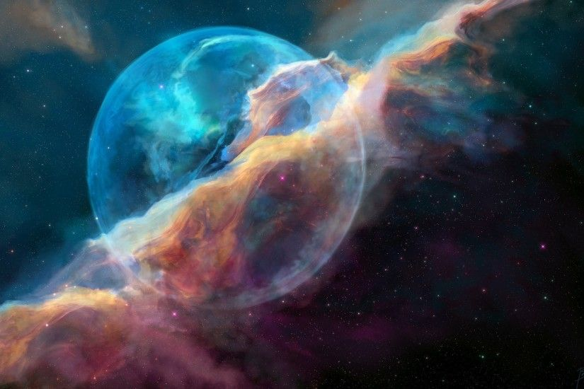 1920x1200 bubble nebula full hd wallpapers new