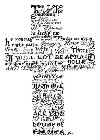Psalm 23 Calligraphy by TheShums Psalm 23 Calligraphy by TheShums