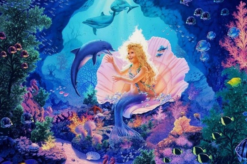 little mermaid desktop wallpaper