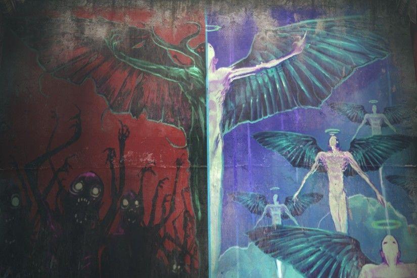 heaven vs hell wallpaper 183��