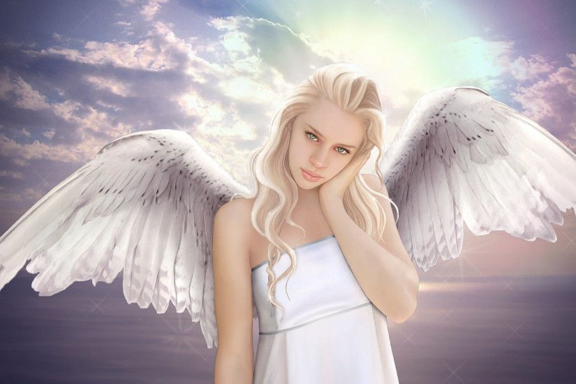 Beautiful Angels Wallpapers | Beautiful Blonde Angel | HD Wallpaper