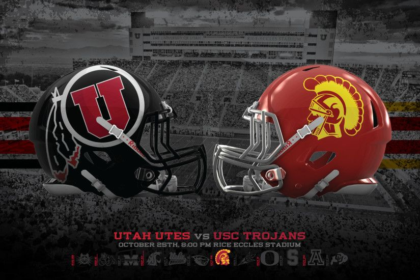 Utah Utes vs USC Trojans Wallpaper -BLACKOUT GAME | Dahlelama