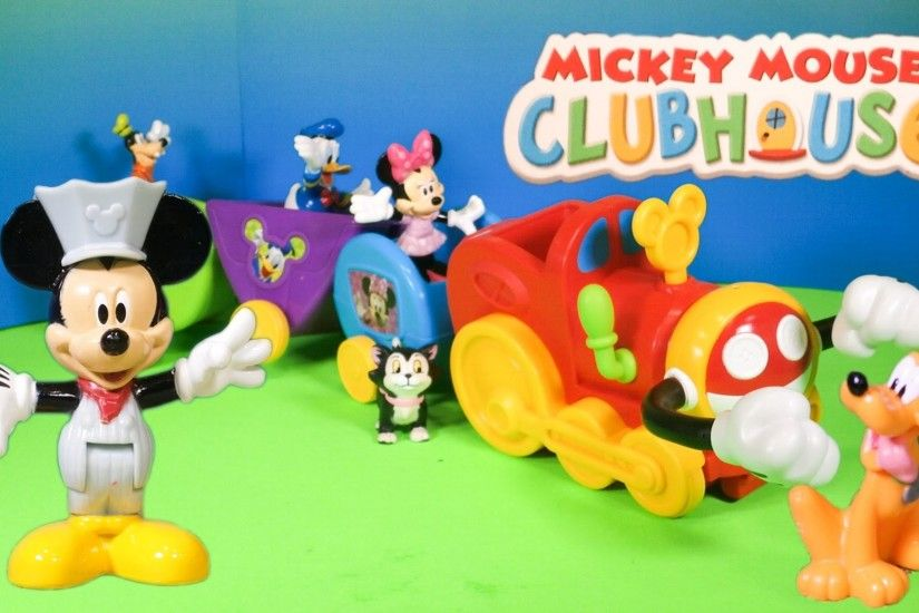 MICKEY MOUSE CLUBHOUSE Disney Junior Mickey Mouse Wobble Bobble Choo Choo  Train Toy Video - YouTube