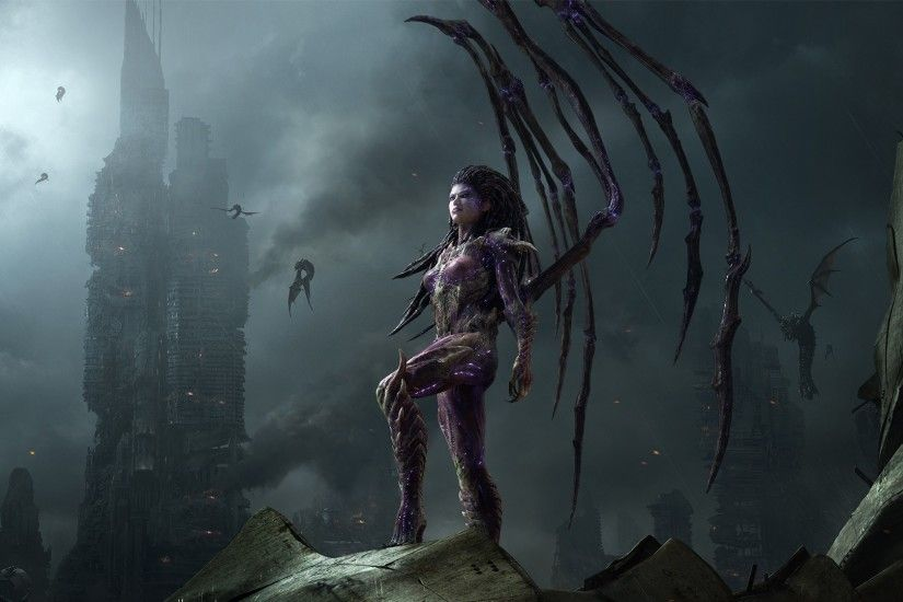 StarCraft, Fantasy Art, Queen Of Blades, StarCraft II : Heart Of The Swarm,  Kerrigan, Zerg Wallpapers HD / Desktop and Mobile Backgrounds