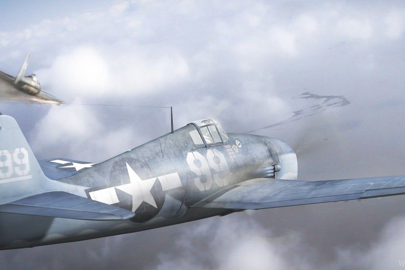 Download Wide 21:9 3440x1440 - Art, Fight, Flight, Planes In The Sky,  Smoke, The Battle Of The Philippine Sea, World War Ii Wallpaper