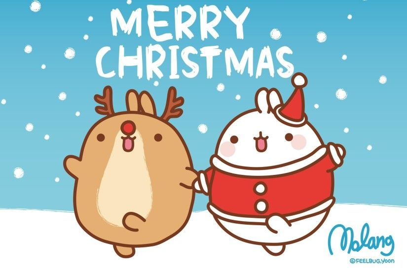 2048x1468 San-X Molang Christmas Desktop Wallpapers - Here are 3 super cute  Molang Desktop