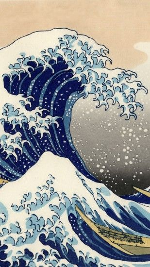 Artistic The Great Wave Off Kanagawa Wave Japanese. Wallpaper 582819