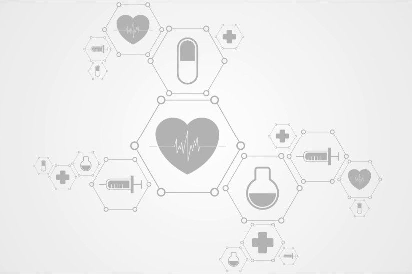 Medical abstract background with health icons. Video animation HD 1920x1080