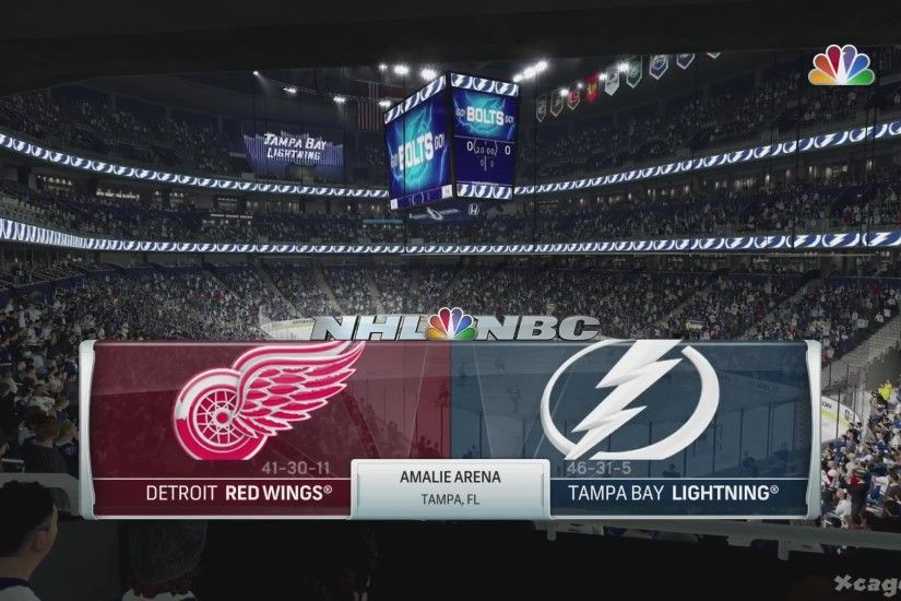 NHL 17 Gameplay - Detroid Red Wings vs Tampa Bay Lightning