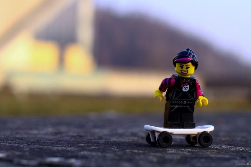 Girl on Skateboard Lego Toys Wallpaper picture