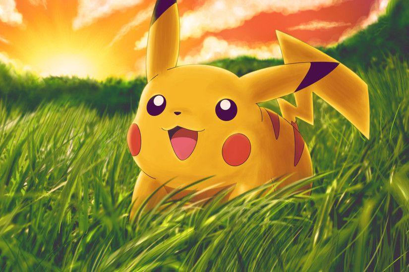 Latest Smiley Pikachu Pokemon Free HD Wallpapers