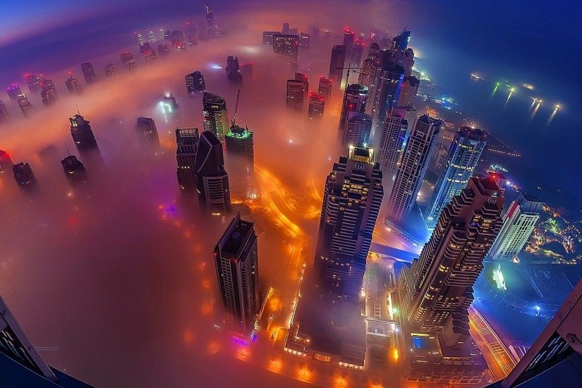 Dubai aerial view - Rooftop Photography wallpaper