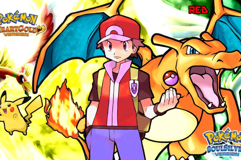 ... Pokemon HGSS Pokemon Trainer Red Wallpaper by MattPlaysVG